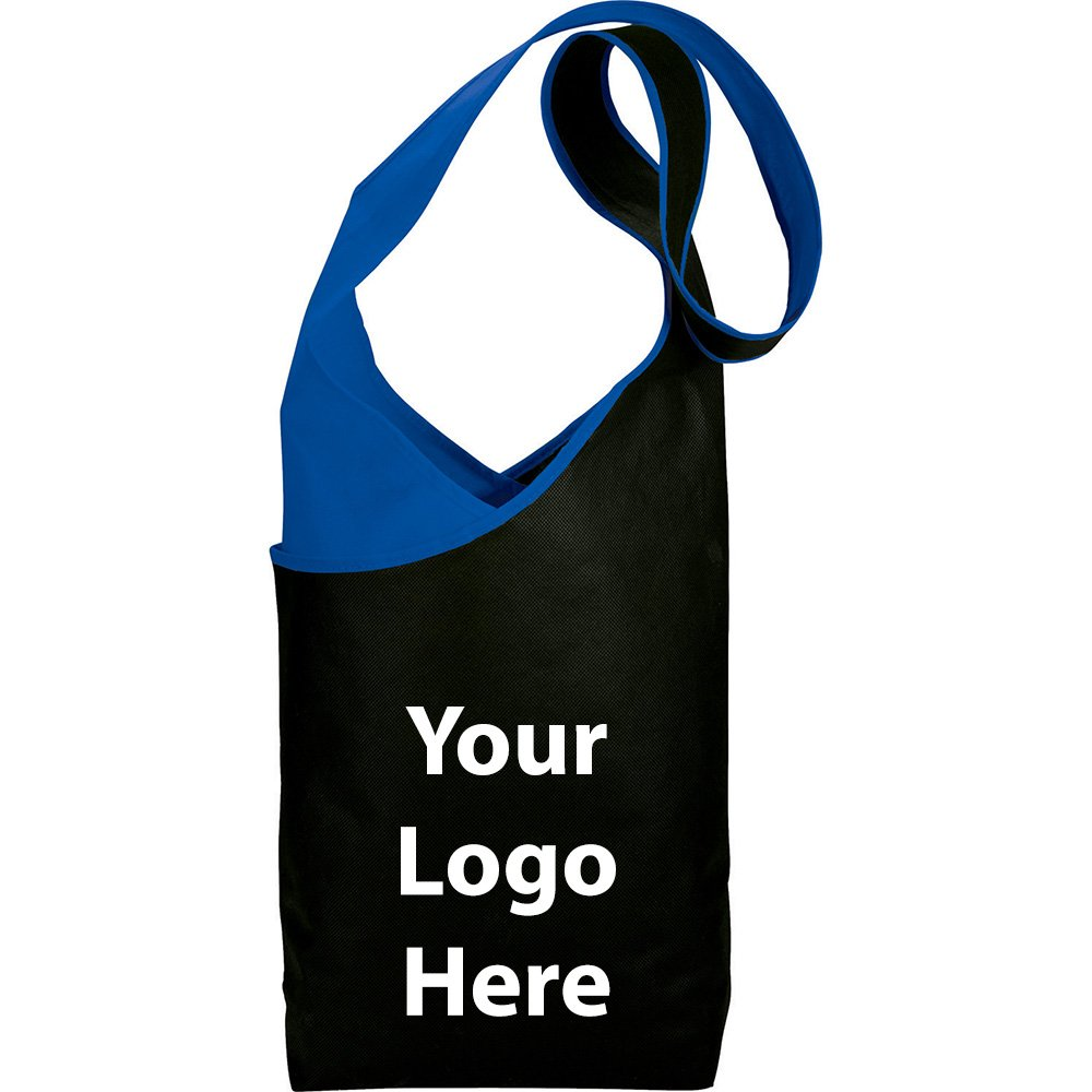 Twilight Shoulder Sling Tote - 200 Quantity - $2.10 Each - PROMOTIONAL PRODUCT / BULK / BRANDED with YOUR LOGO / CUSTOMIZED by Sunrise Identity