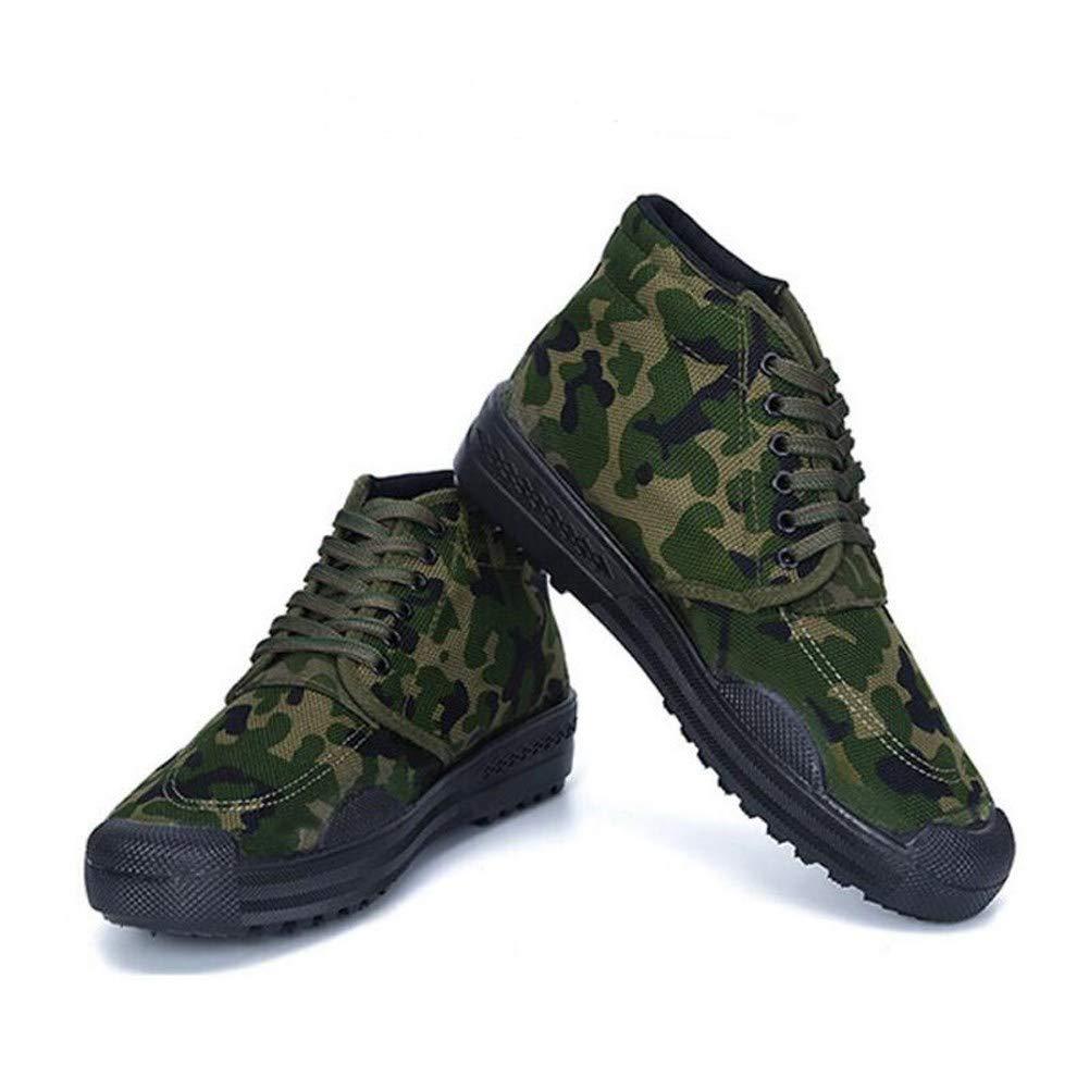 RcnryHohe Verschleißfestigkeit Camouflage Bergsteigen Outdoor Schuhe Canvas Farm Baustelle Gummi Schuhe C,41