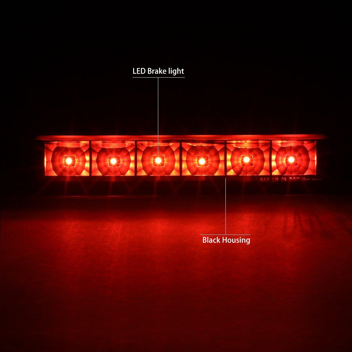 DNA Motoring 3BL-CEXP13-LED-RD Red Lens LED 3rd Brake Light 03-17 Chevy Express