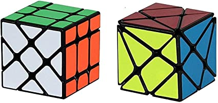 Nabhya Combo Offer of Windmill Cube and Axis Cube - Speed Magic Cube - 3x3 , 3 by 3 , Magic Speed Cubes