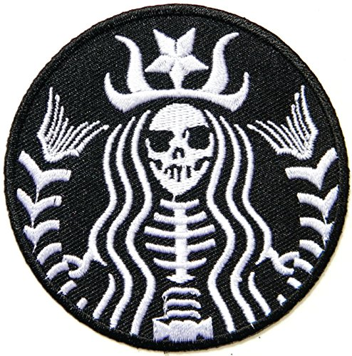 STARBUCKS Coffee Zombie Halloween Princess Mermaid Skull Skeleton Logo Symbol Jacket T-shirt Patch Sew Iron on Embroidered Sign Badge Costume (Starbucks Coffee Costume)