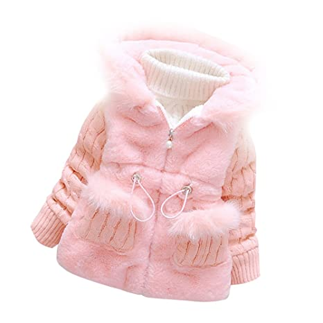8e1f2ed52 Baby Girls Infant Toddler Winter Knited Outerwear Coats Snowsuit ...