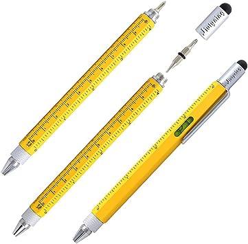 Multi-Functional Tool Ballpoint Pen Screwdriver Ruler Spirit Level DIY Supply