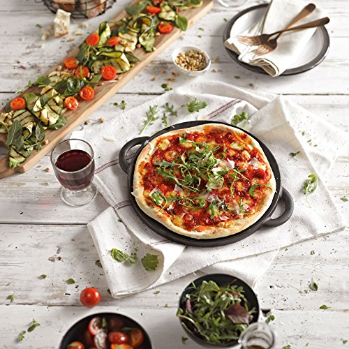 Denby Cast Iron Reversible Pizza Griddle, Medium, Black