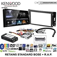 Volunteer Audio Kenwood DDX9904S Double Din Radio Install Kit with Apple CarPlay Android Auto Bluetooth Fits 2005-2013 Chevrolet Corvette, 2006-2009 Hummer H3 (OE amplified systems and Onstar)