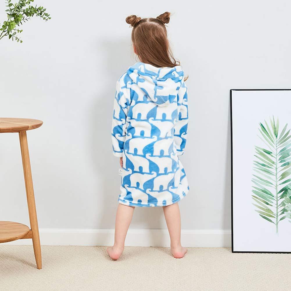 XINNE Unisex Toddlers Kids Hooded Bathrobe Dressing Gown Pajamas Flannel Sleepwear