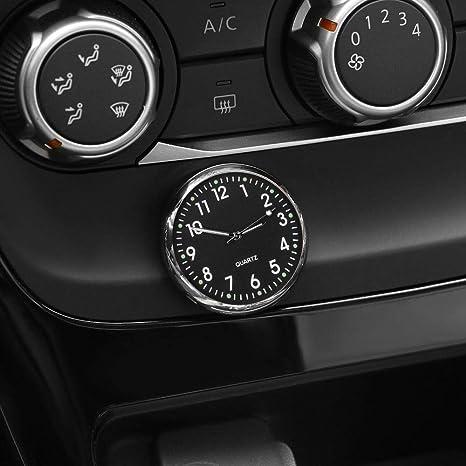 Black workbench FOONEE Car Clocks for Dash Car Dashboard Clock with Battery for Cars SUV locker Car Decoration Fluorescent Font Office