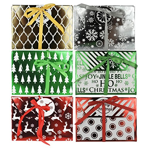 Set of 6 Assorted Christmas/Holiday Money/Gift Card Holder Greeting Cards!