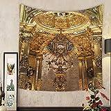Jacquelyn A. Velasquez Custom tapestry golden religious objects spain