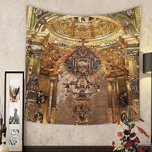 Jacquelyn A. Velasquez Custom tapestry golden religious objects spain by Jacquelyn A. Velasquez