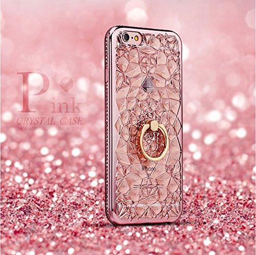 ゲート玉タウポ湖iPhone6ケース落下防止リング付き iPhone6S ケース バンカーリング付き (ピンク)