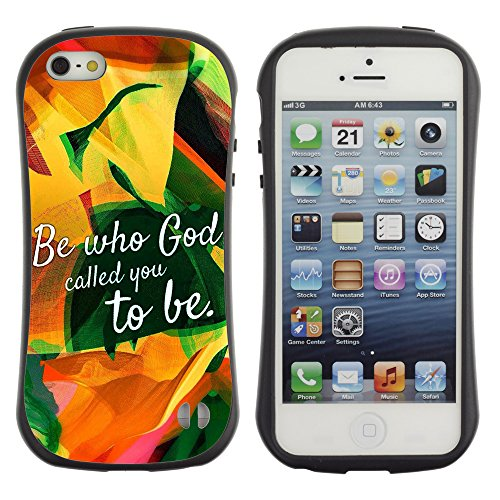 DREAMCASE Citation de Bible Silicone et Rigide Coque Protection Image Etui solide Housse T¨¦l¨¦phone Case Pour APPLE IPHONE 5 / 5S - BE WHO GOD CALLED YOU TO BE
