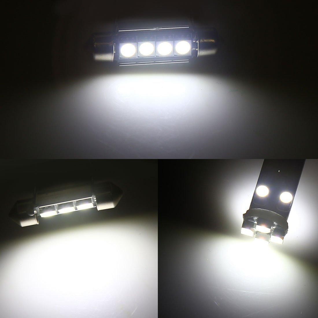 ETbotu 22pcs White Car Dome Map Reading LED Interior Light for BMW X5 E53 2001-2006 Canbus