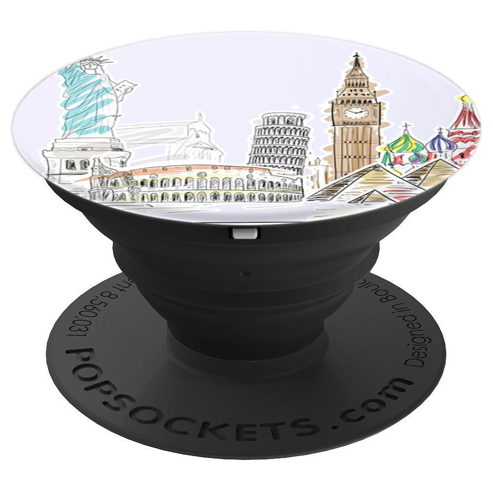 Cute Wanderlust Travel London NYC Italy Adventure Travel - PopSockets Grip and Stand for Phones and Tablets