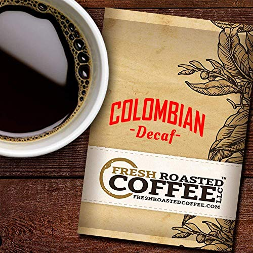 (Fresh Roasted Coffee LLC, Decaf Colombian Coffee, 2.25 Ounce Pre-Ground Fractional Packages, 24 Portion Packs)