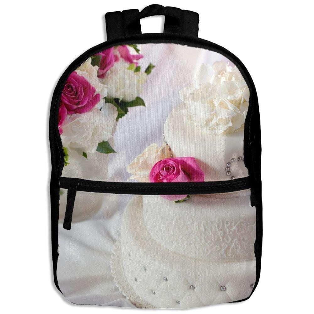 Wedding Rose Cake Heart Kids Backpack For Boys Girls Fit School Backpack
