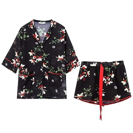 Pijamas ropa de casa señoras verano pijamas de seda de hielo modelos ponibles delgados pijamas de