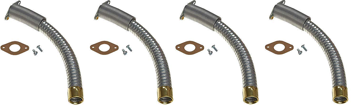 Justrite 11078 5/8'' Diameter x 9'' Long Flex Hoses for Type II Safety Can (Pack of 4) by Justrite