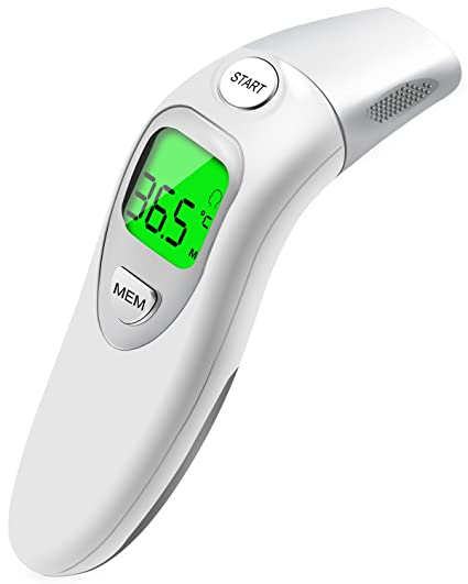xikezan médico frente y oído thermometer- aprobado por la FDA lectura instantánea digital bebé termómetro