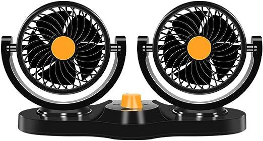 Fan Fan Ventilador de Doble Cabezal del Coche, Coche 12v / 24v ...