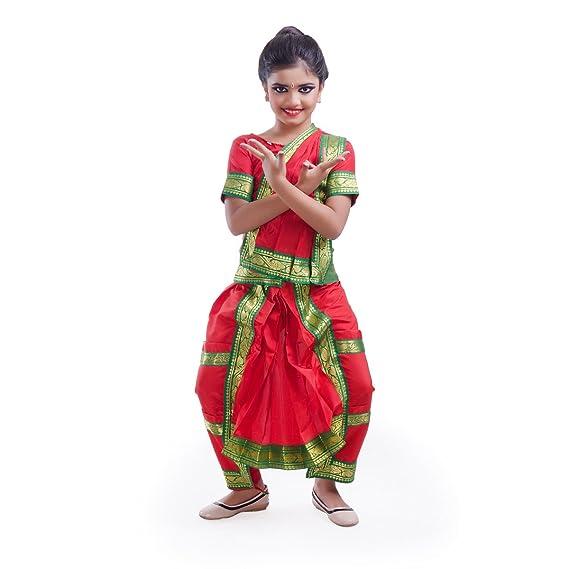 8563d6c63529 Fancydresswale Bharatnatyam Dance Dress for Girls (12-14 Years, Red ...