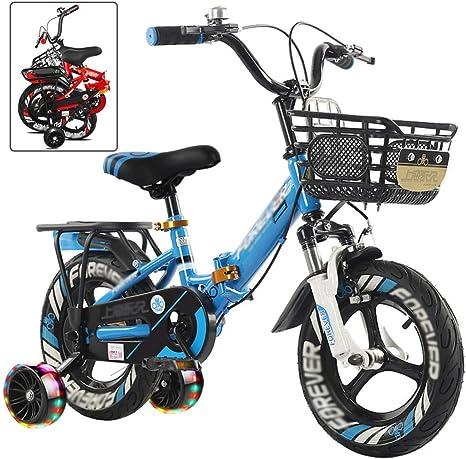 Bicicleta Marco Plegable niños Acero de la Bici Niña Niño Los ...