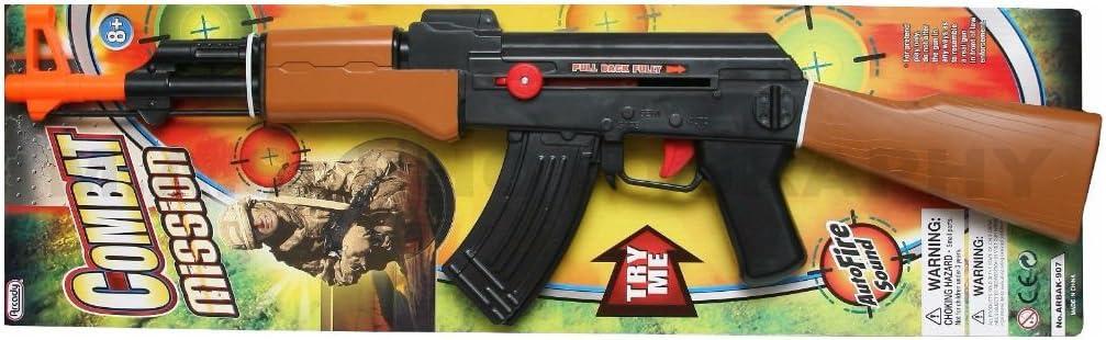 AK-47 Grand Kids Toy Machine Gun lumières tir Sound Vibration télescopique 85 cm