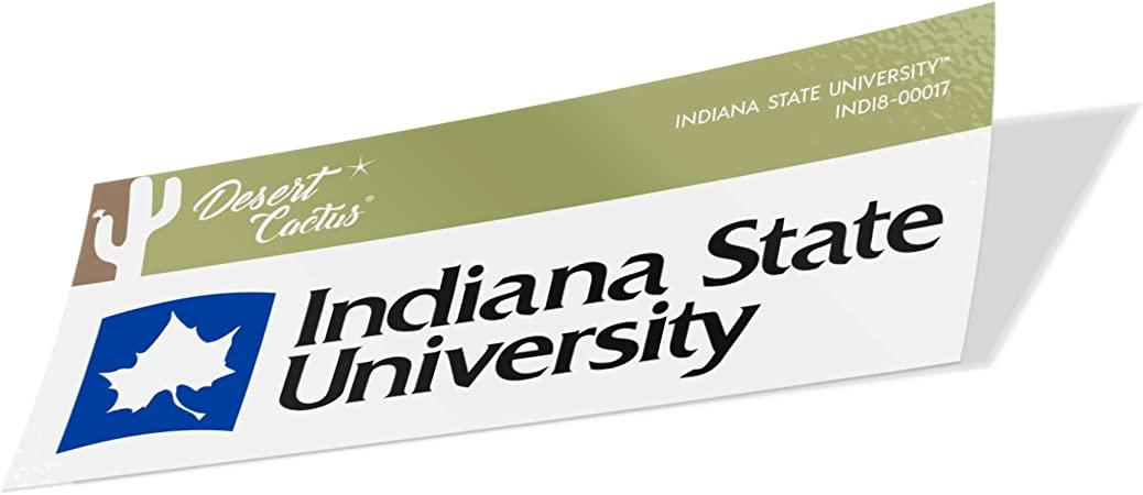 70s Name Sticker Indiana State University ISU Sycamores NCAA Vinyl Decal Laptop Water Bottle Car Scrapbook