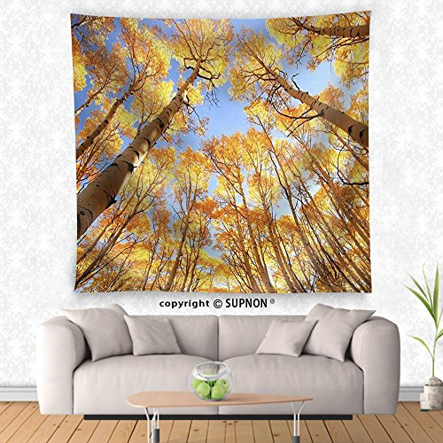 VROSELV custom tapestry Aspen Trees with Fall Color San Juan National Forest Colorado Usa - Fabric Wall Tapestry Home Decor - Colorado Aspen Leaves