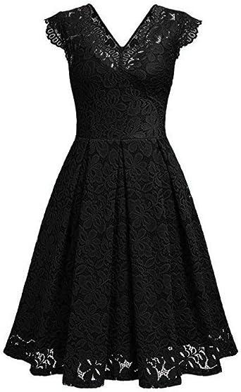 Rosennie damska sukienka w stylu vintage, bez ramiączek, koronkowa, na wesele, uroczystość, imprezę, wieczorowa sukienka dla druhny, długie rękawy, A-Line, swing, sukienka do kolan, wiosna, jesie