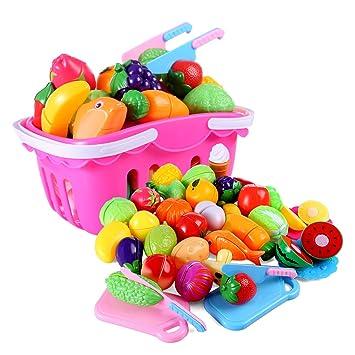 De 37 Verduras Tosbess Piezas Juguetes Cortar Plástico Abs Frutas TlcFK13J