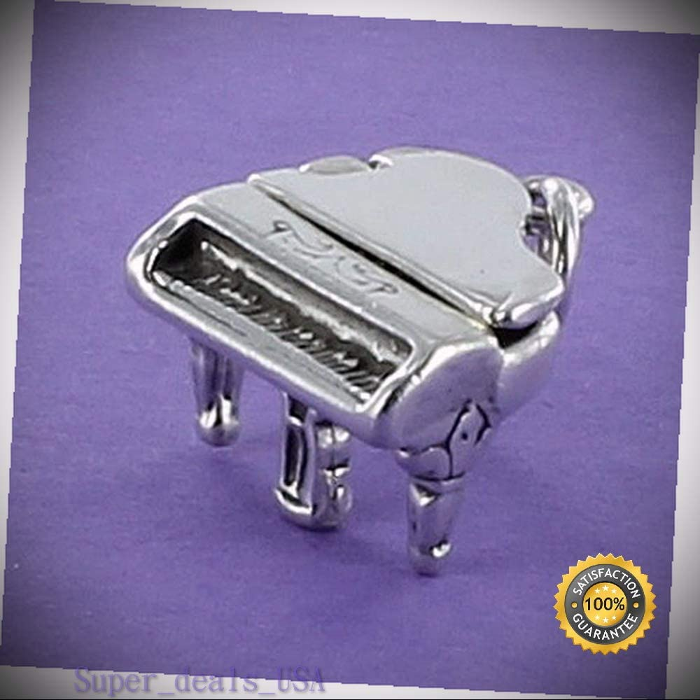 STERLING SILVER OPENING GRAND PIANO CHARM