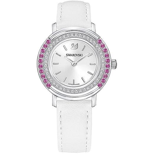 Swarovski Reloj de mujer cuarzo correa de cuero color blanco caja de 5243053: Amazon.es: Relojes