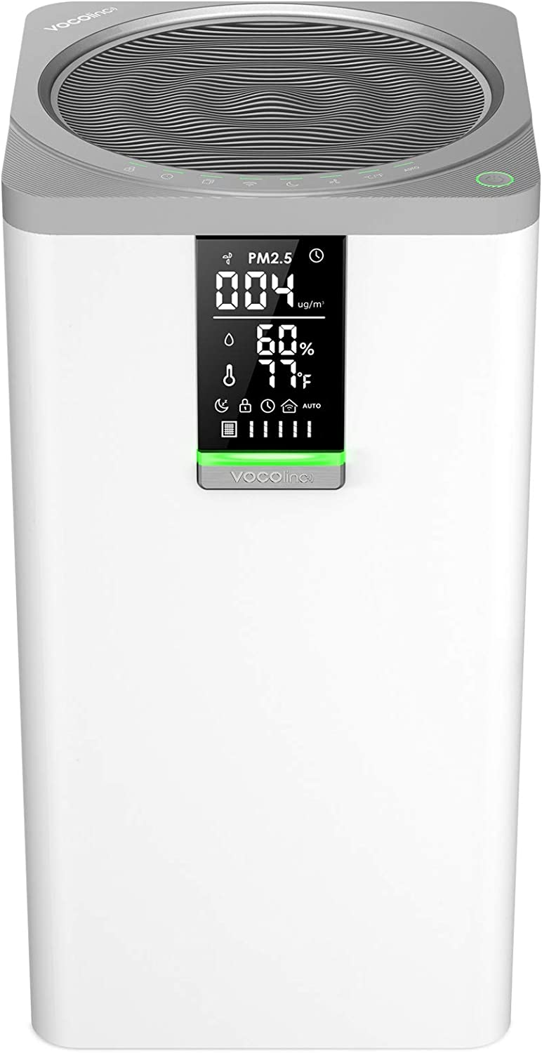 VOCOlinc Smart WiFi HEPA Air Purifier 3-Stage Filtration Cleaner for Home Bedroom 645 sq.ft 295 CFM Works w/HomeKit Alexa Google Assistant 99.97% Removal Efficiency