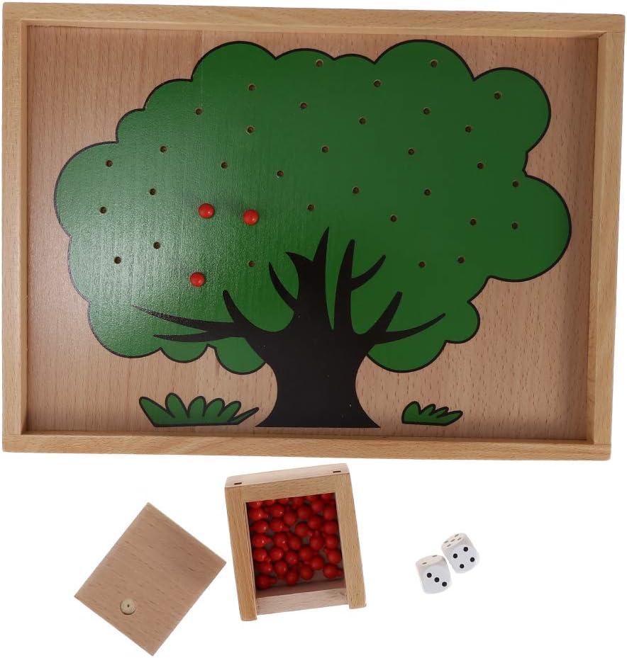 Gazechimp Conjunto Montessori Diseño de árbol de Manzana Manzano Juego Niños Juguete de Educativo: Amazon.es: Juguetes y juegos