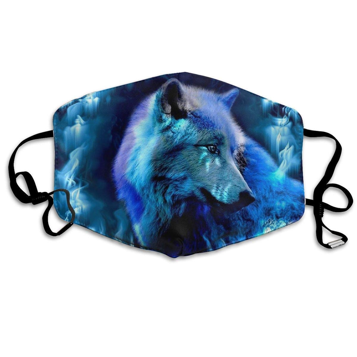 Fantasy Wolf Print Anti-Dust Flu Windproof Face Mouth Washable and Reusable Cleaning for Outdoor Activities