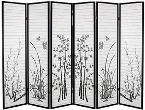 SQF Floral Room Divider 6 Panel