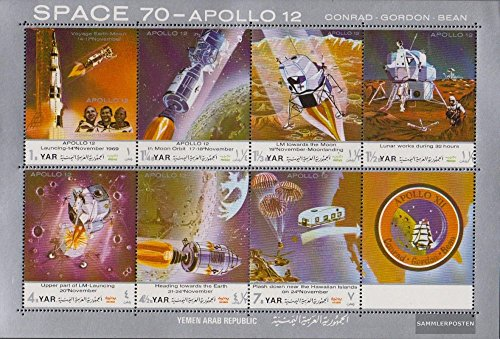 North Yemen (Arab republic.) 1129-1135 Sheetlet (complete issue) 1970 Moon Landing - Apollo 12 (Stamps for collectors) Space