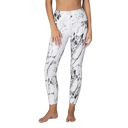 db60ccb96dd1dd Marble Print Yoga Pants, Women's High Waist Sports Gym Running Fitness  Athletic Leggings by E