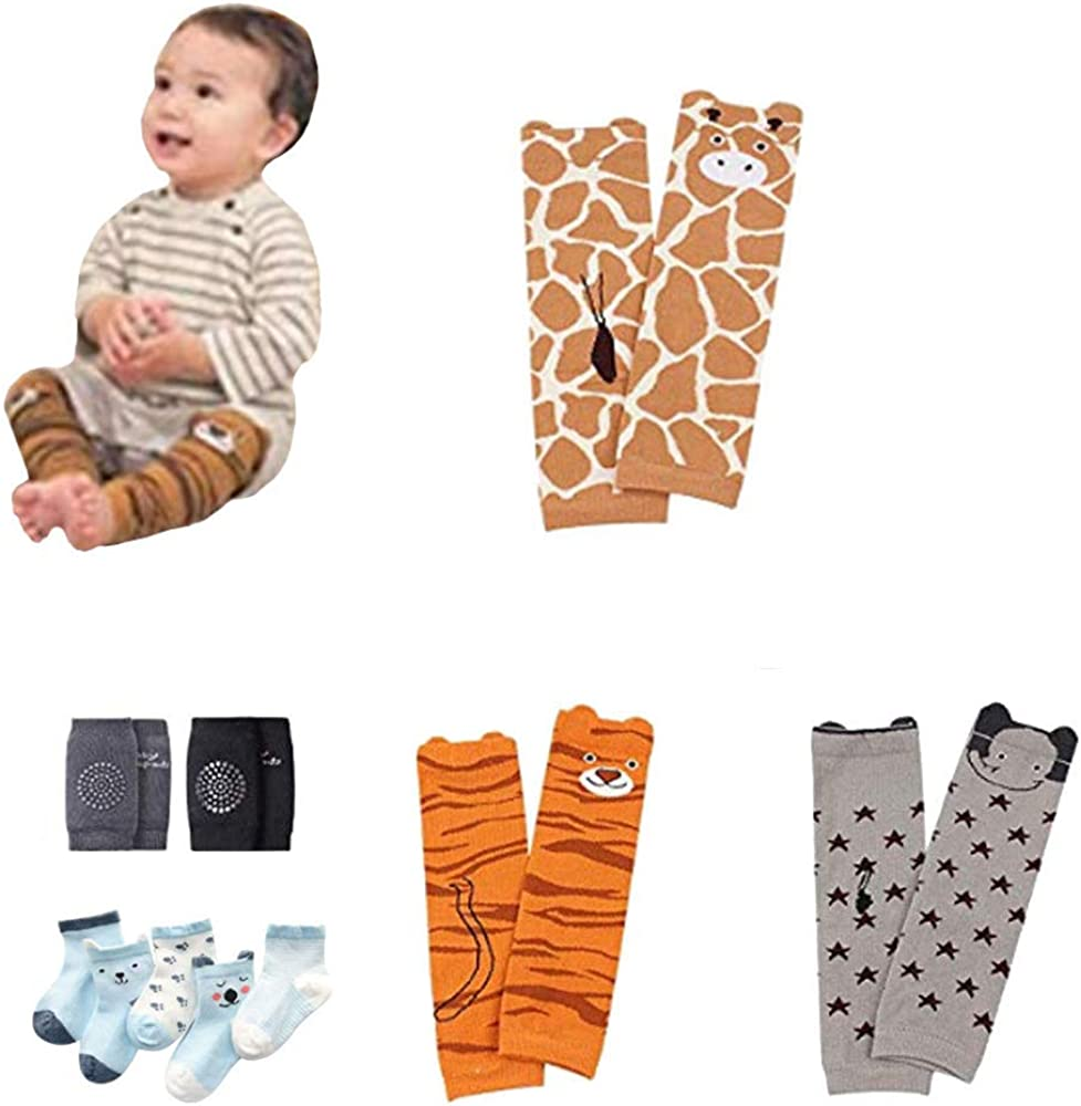 Kneepads Gift for Boys /& Girls Set of 6 Baby /& Toddler Leg Warmer Collection