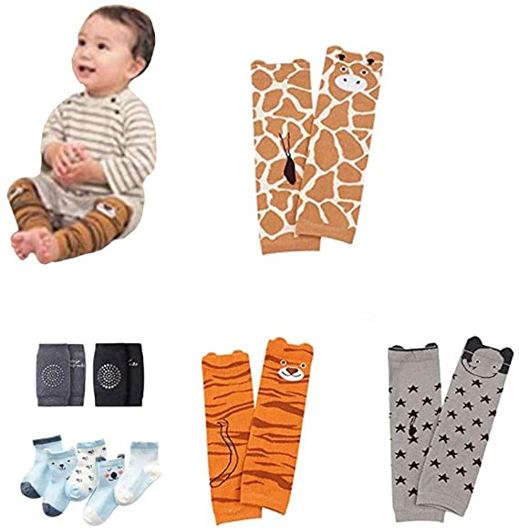 Knee Socks Protector Warmer,Whitegreen,One Size Bienvenu Toddler Baby Leg Sleeve Warmers