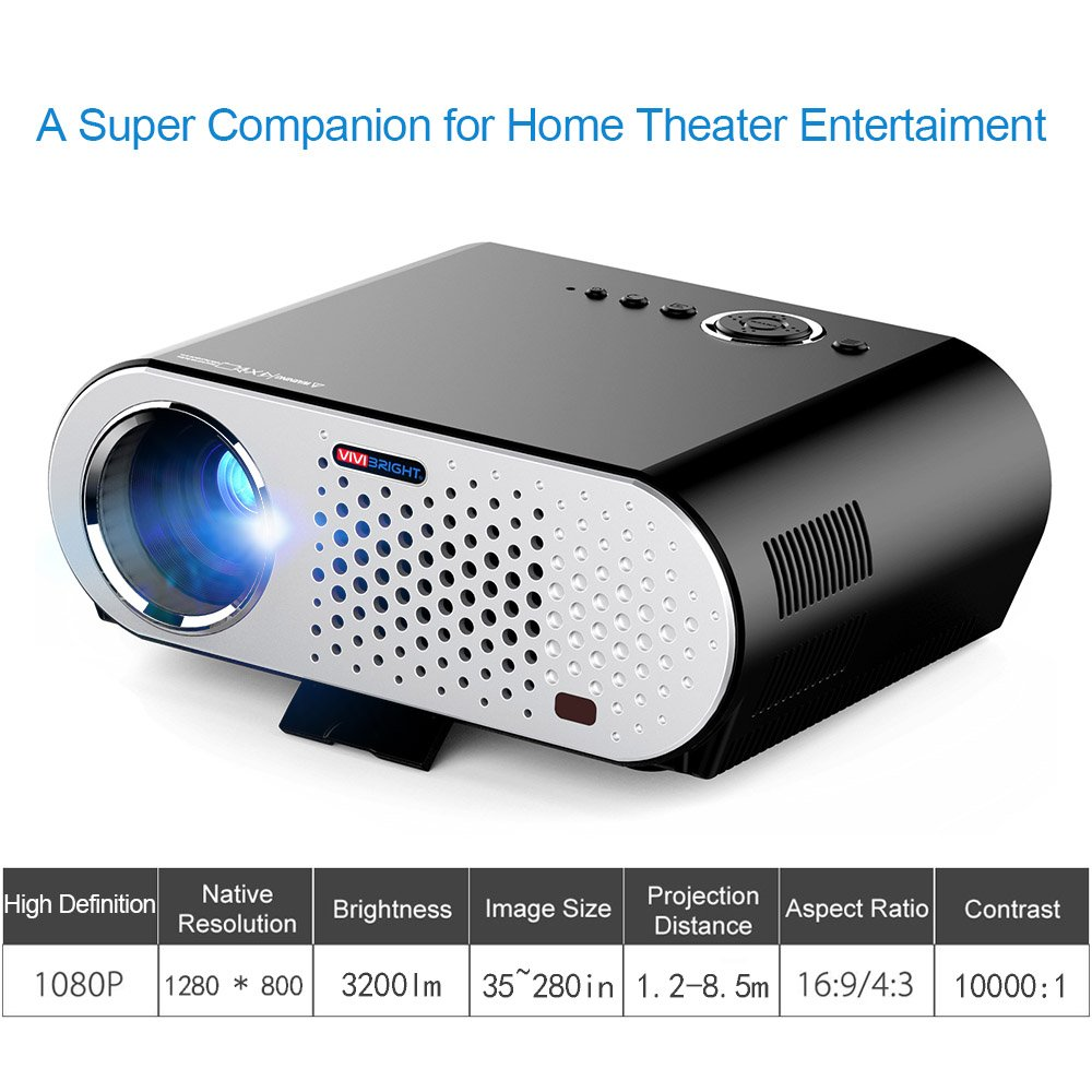 Mini proyector de vídeo portátil Full HD Home Theater Cinema LED ...