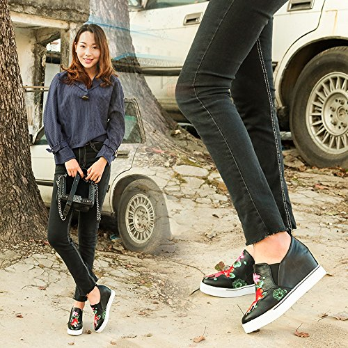 The Increase Women Slope With Black Folk Leather In The KHSKX And four Shoes New In Thirty Style YqS1F
