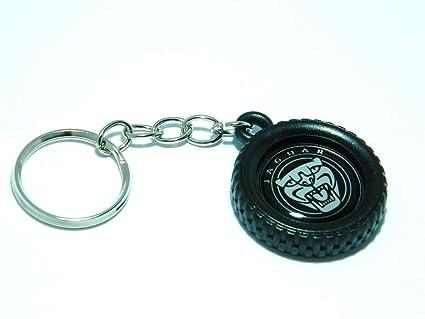 Llavero con logotipo de Jaguar y diseño de rueda, aleación ...