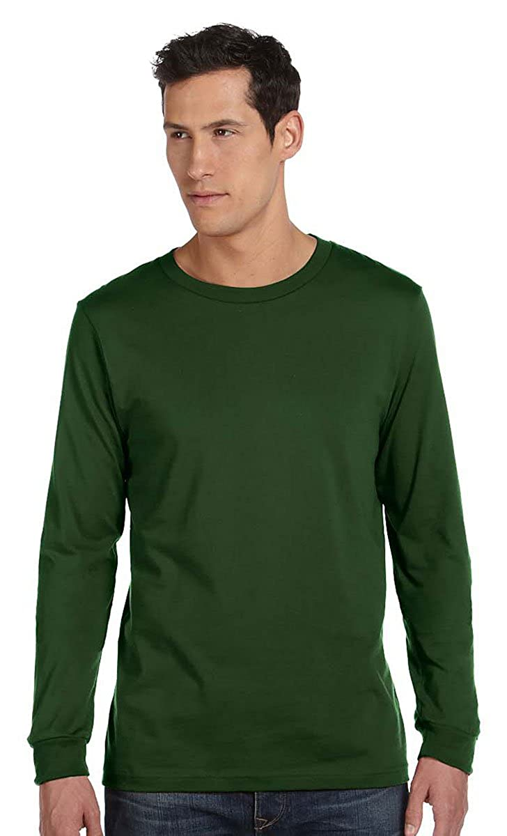 029d0151b2ae1 Bella + Canvas Unisex Jersey Long-Sleeve T-Shirt - OLIVE - L - (Style # 3501  - Original Label) | Amazon.com