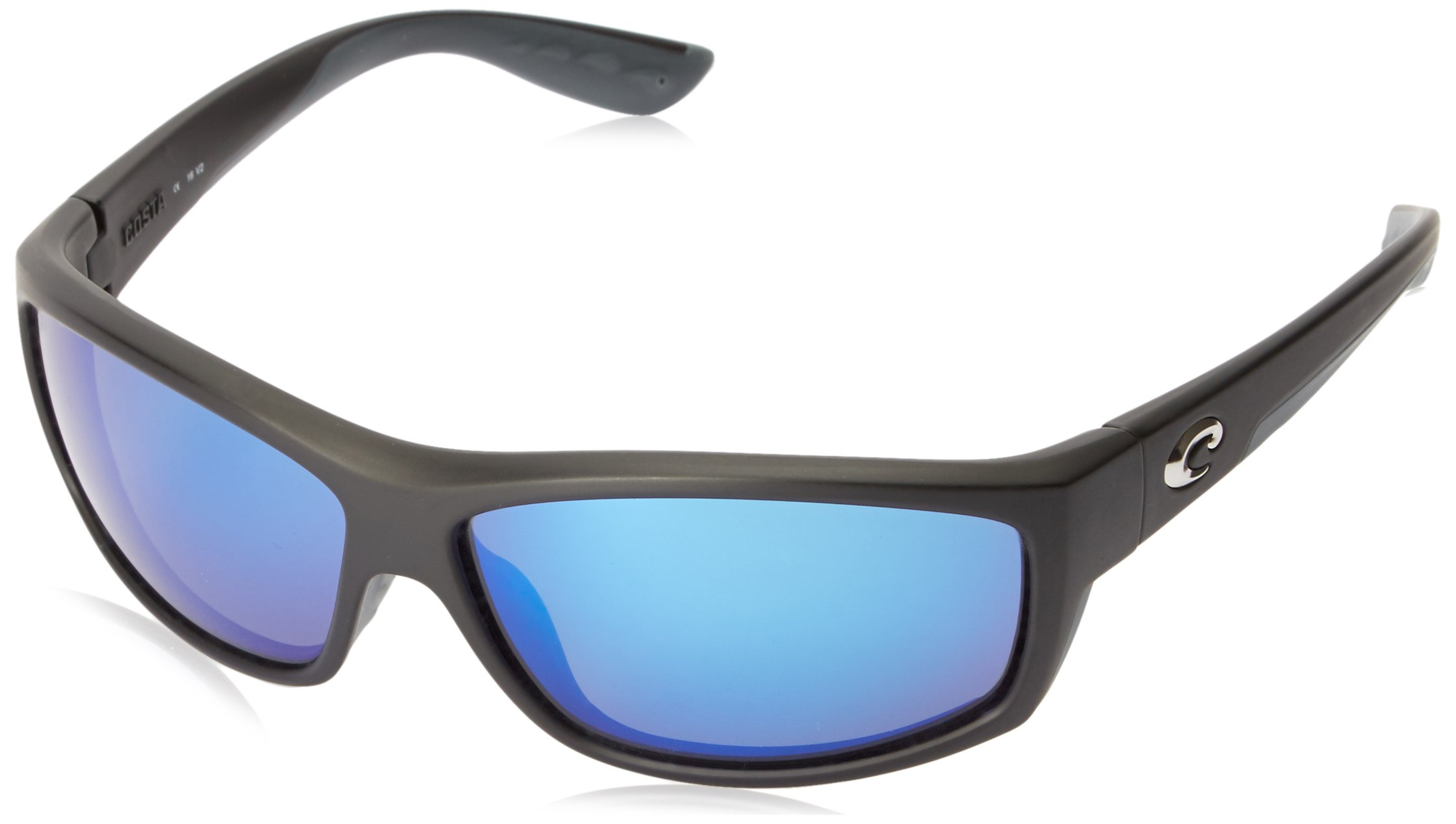 Costa del Mar Unisex-Adult Saltbreak BK 11 OBMGLP Polarized Iridium Wrap Sunglasses, Black, 64.5 mm