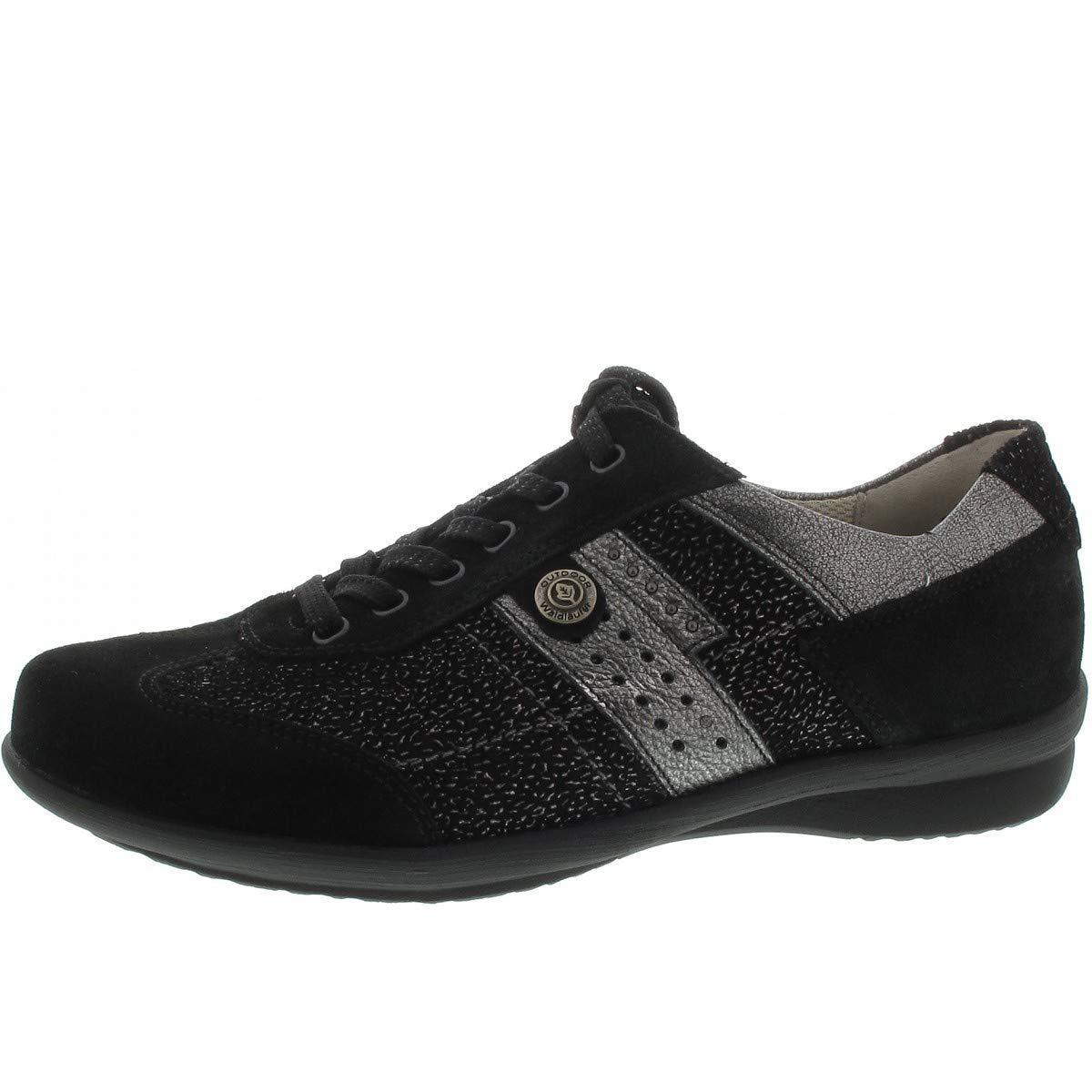 Waldläufer 214008-317-564 - Zapatos de Cordones Para Mujer 38.5 negro