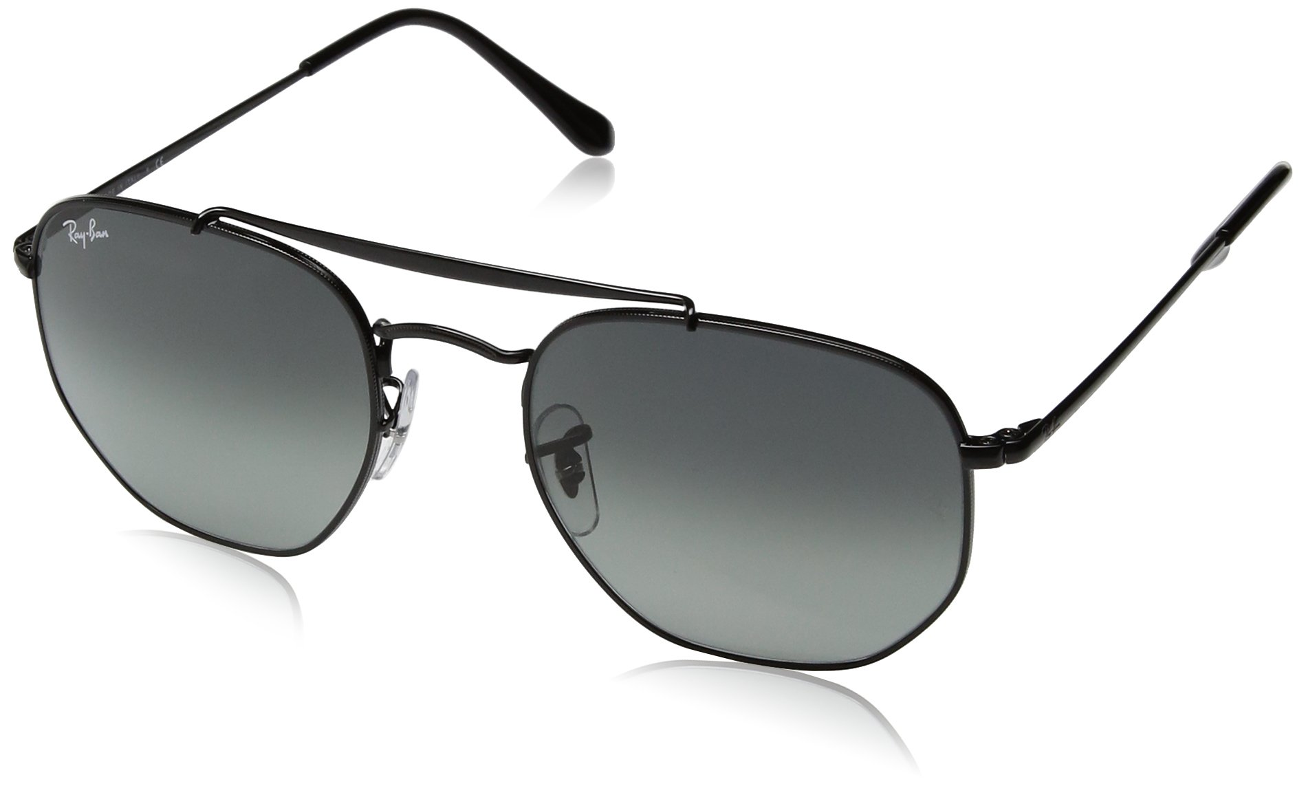Ray-Ban Metal Unisex Square Sunglasses, Black, 54 mm by Ray-Ban