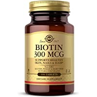 Solgar Biotin 300 mcg, 100 Tablets - Energy, Metabolism, Supports Healthy Skin, Nails & Hair - Non-GMO, Vegan, Gluten Free, Dairy Free, Kosher, Halal - 100 Servings (Pack of 3)