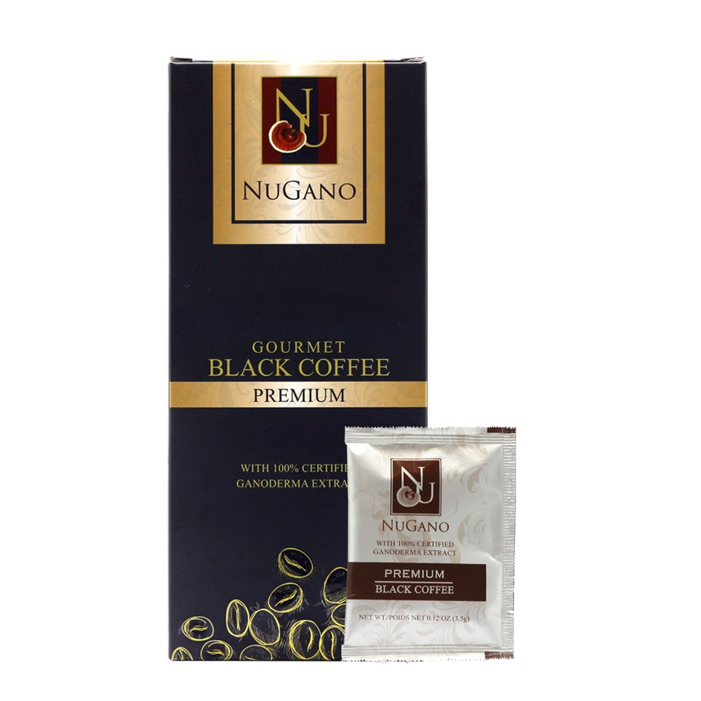 1 Box NuGano Ganoderma Lucidum Extract Black Coffee with Zero Calories + Low Caffeine <2.25% + No Anxiety and manufactured by FDA Certified Facility